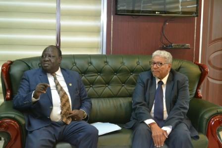 وزير العدل يلتقي نائب رئيس القضاء بدولة جنوب السودان  السودان
