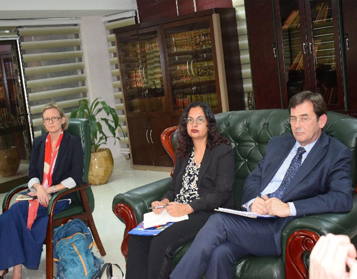 جانب من لقاء السيد وزير العدل بوفد من الاتحاد الاوربي