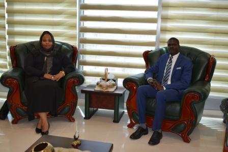 جانب من لقاء السيد وزير العدل بوزير الشباب والرياضة