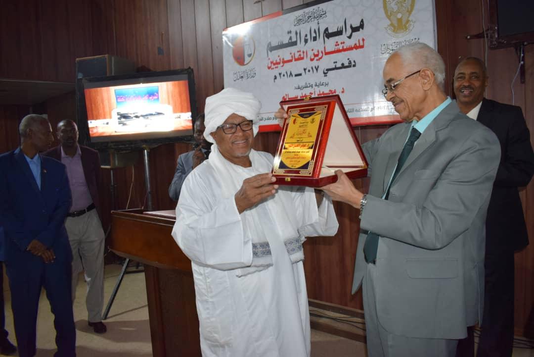 وزير العدل يشهد مراسم اداء القسم للمستشارين المساعدين
